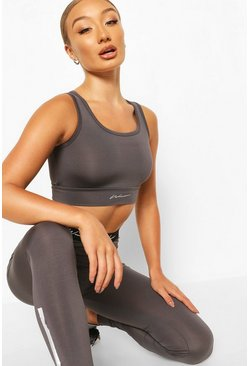 Charcoal grey Active Sports Bra