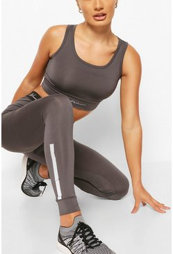 Charcoal grey Active Compression Tight with Panel