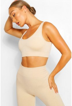 Nude Rib Seamless Sports Bra
