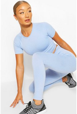 Light blue blue Seamless Gym Leggings