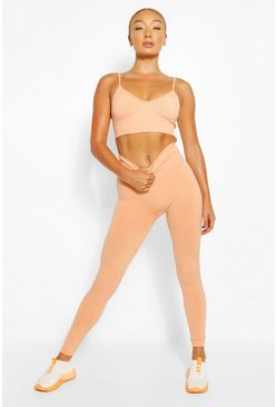 Orange Seamless Gym Leggings