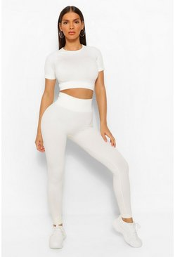 Coconut milk Seamless Gym Leggings