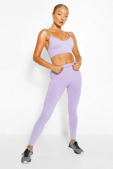 Purple Seamless Gym Leggings