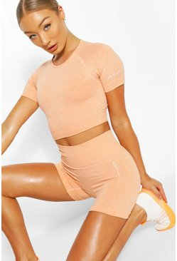 Short cycliste sans coutures, Orange