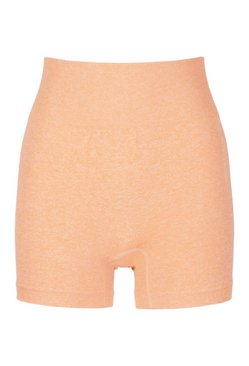 Orange Seamless Cycling Shorts