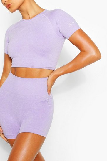 Seamless Gym Crop Top and Cycling Shorts