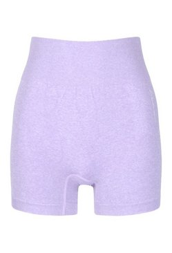 Purple Seamless Cycling Shorts