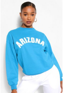 Blue Arizona Applique Oversized Sweat