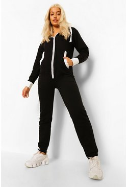 Black Solid Colour Onesie
