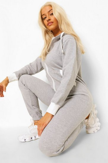 Silver grey grey Solid Colour Onesie
