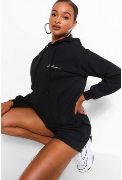 Black Woman Signature Oversized Hoodie