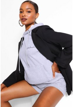 Grey Woman Signature Oversized Hoodie