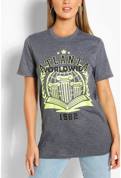 Leisteen grey Atlanta Collegiate T-Shirt