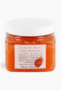 Sunday Rain Mango & Coconut Body Scrub, Orange
