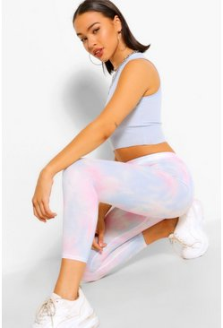 Blue Pastel Tie Dye High Waist Legging