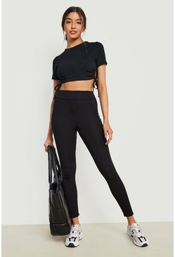 Black svart 2 Pack Core Basic Jersey Leggings