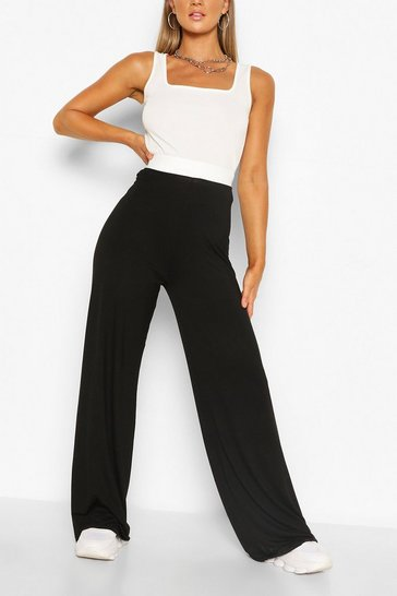 Black Everyday Tonal Wide Leg Trouser