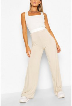Stone beige Everyday Tonal Wide Leg Trouser