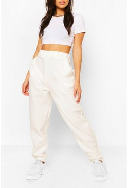 Ivory white Basic Loose Fit Joggers