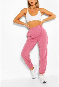 Rose pink Oversized relaxte loopback joggingbroek