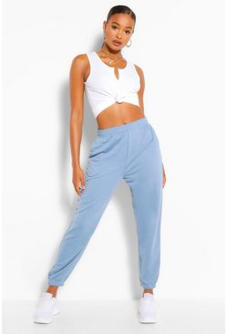 Denim blue Loopback Oversized Relaxed Joggers
