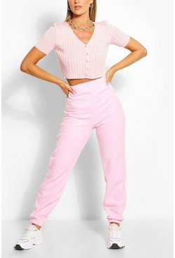 Baby pink pink Supersoft Fleece Sweat Joggers