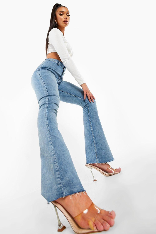 Flared Jeans High Rise Stretch Flare Jean