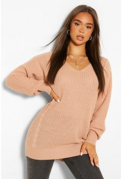 Rose pink Cable Knit Oversized Jumper