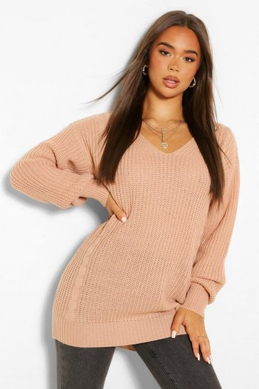 Rose Cable Knit Oversized Jumper