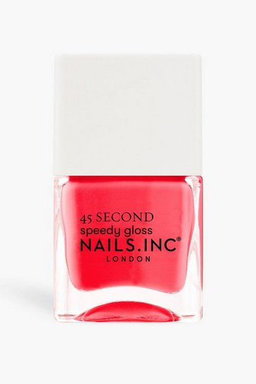 Coral pink Nails Inc 45 Sec Polish Bond Street