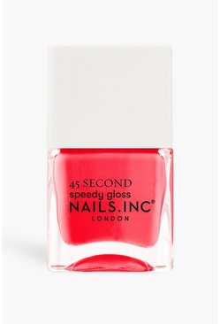 Coral rosa Nails Inc 45 Sec Polish Bond Street