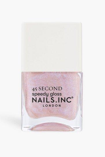 Blush pink Nails Inc 45 Sec Polish Starring Me In Soho