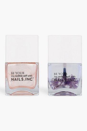 Pink Nails Inc Polish Duo Crystals Made Me Do It