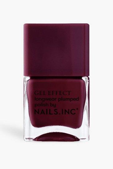 Red Nails Inc Gel Effect Polish - Kensington High