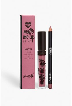 Pink Barry M Matte Me Up Lip Kit - Bespoke
