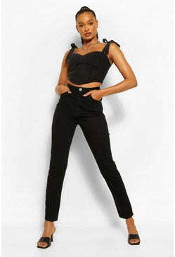 Black High Waist Mom Jean