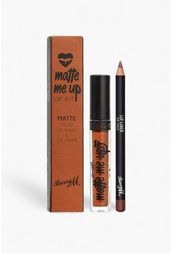 Набор для губ Matte Me Up от Barry M, So Chic, Коричневый