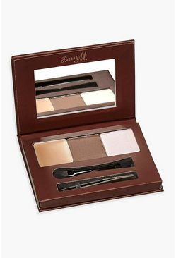Kit de cejas Barry M - Light/Medium, Marrón