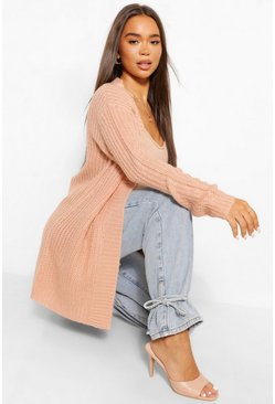 Rose pink Open Boyfriend Vest