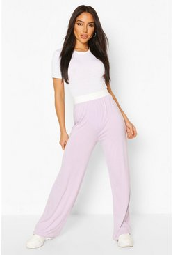 Lilac purple Everyday Wide Leg Trouser