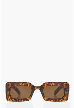 Animal multi Chunky Rectangle Sunglasses