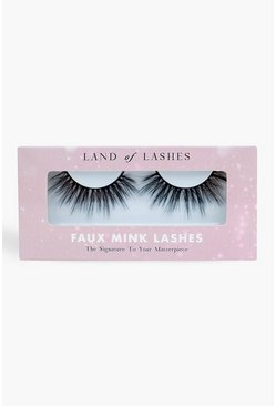 Black Land Of Lashes Faux Mink - Hollywood