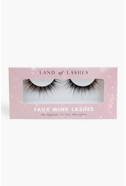 Black Land Of Lashes Faux Mink - Feather