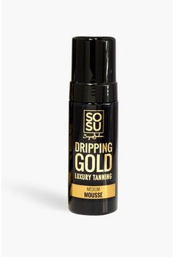 Black SOSU Dripping Gold Medium Mousse