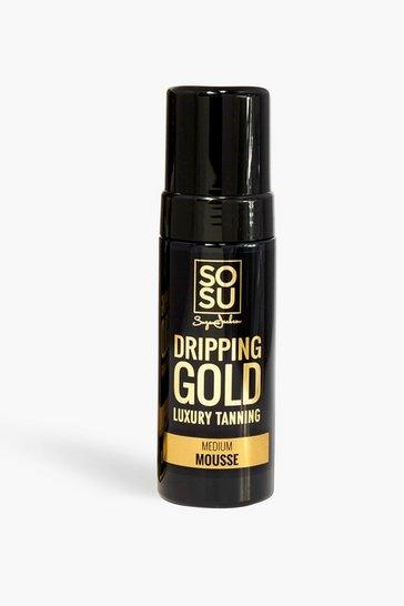Black SOSU Dripping Gold Medium Mousse