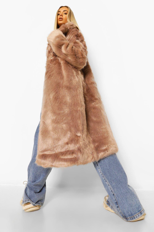 COATS & JACKETS Longline Luxe Faux Fur Coat