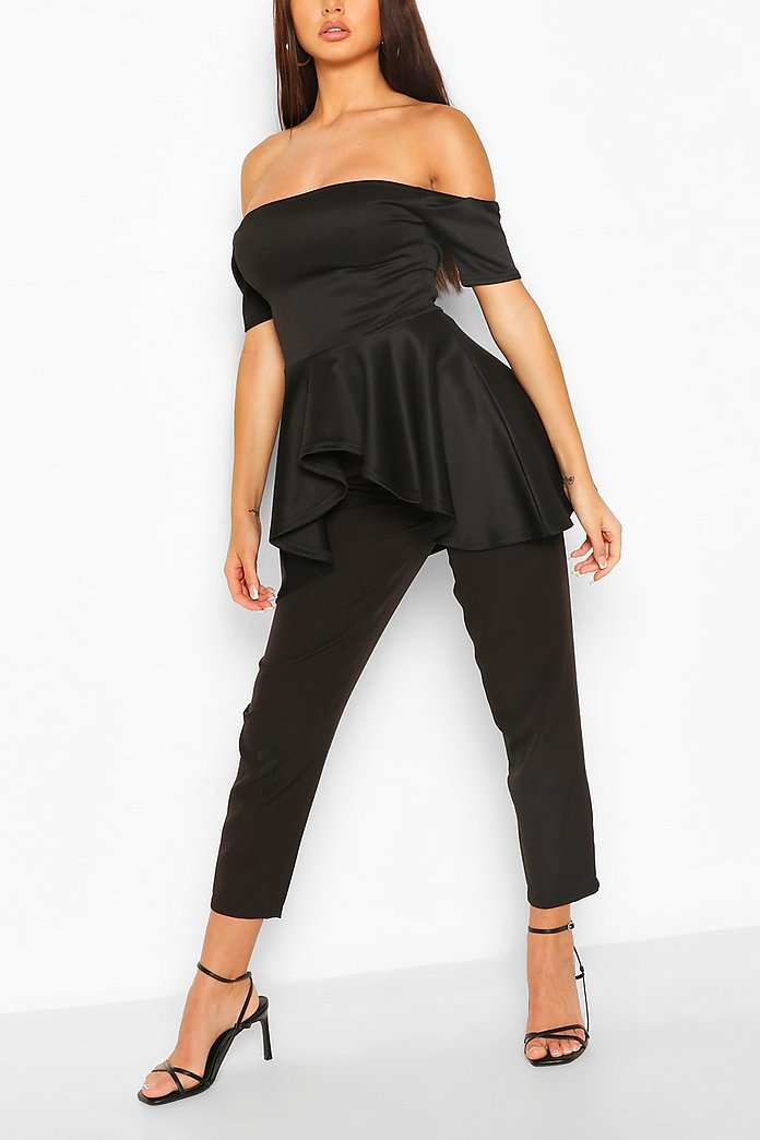 Scuba Off The Shoulder Top Boohoo