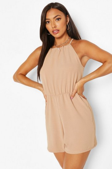 Nude Basic High Neck Flippy Playsuit