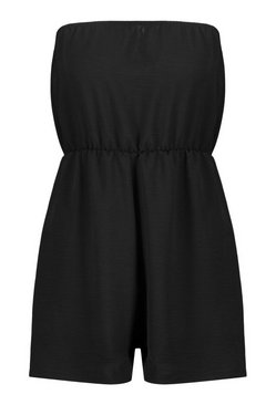 Rose Basic Bandeau Flippy Hem Playsuit