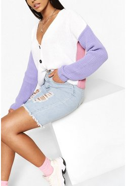 Lila purple Vest met colourblocking